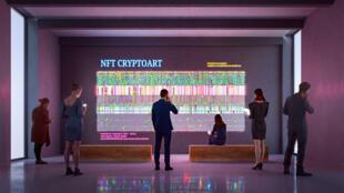 crypto art nft bitcoin ether tableau galerie marché