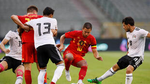 Les Egyptiens ont souffert face à la Belgique du feu follet Eden Hazard lors du match amical du 6 juin 2018.