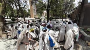 Cérémonie religieuse baptisée Melela à Aksoum en mai 2021. (Illustration).
