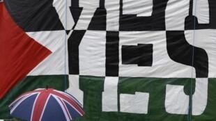 Biểu hiện của sự ủng hộ một Nhà nước Palestine tại Luân Đôn. Ảnh ngày 13/10/2014