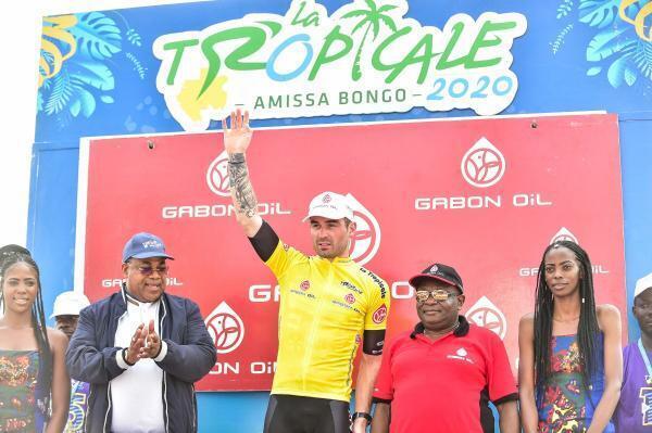 Jordan Levasseur, vainqueur de la Tropicale Amissa Bongo 2020.