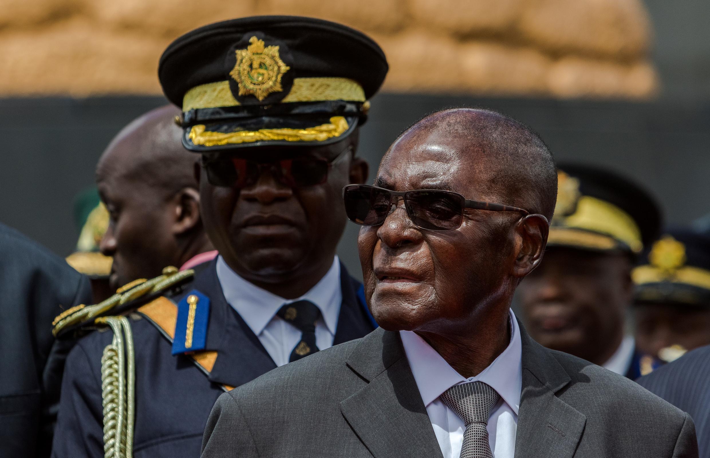 Le président zimbabwéen Robert Mugabe, à Harare, le 12 avril 2017.