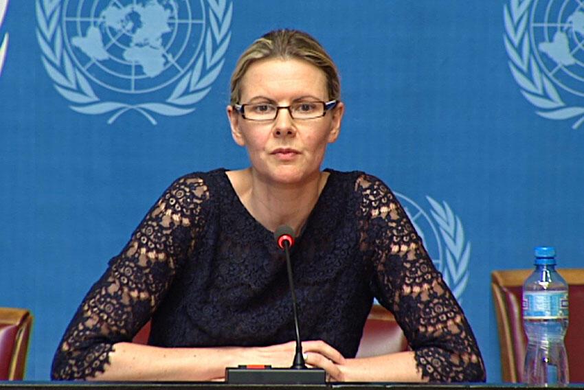A porta-voz do comissário da ONU para os Direitos Humanos, Cécile Pouilly.