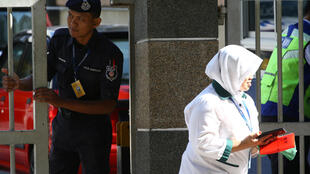 L'hôpital général de Kuala Lumpur, le 17 février dernier pendant l'autopsie du Sud-Coréen Kim Jong-nam.