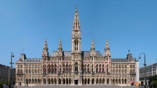 A sede da prefeitura de Viena, na Áustria.