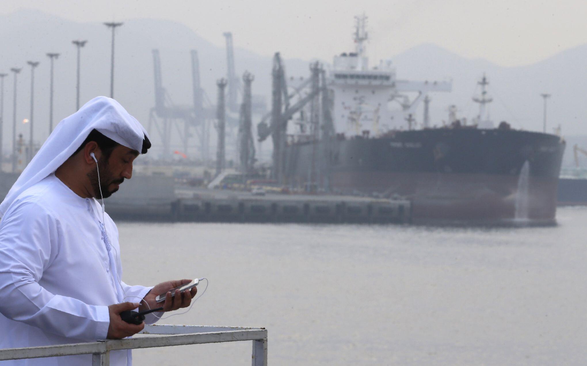 بندر فجیره در امارات متحد عربی.