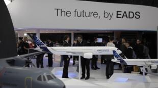 Le stand d'EADS lors du salon aéronautique de Berlin, le 13 septembre 2012.