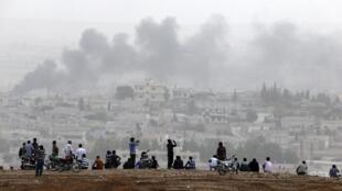 Kurdawan da ke rayuwa a Kobane.