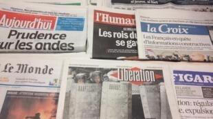 Primeiras páginas diários franceses 23/1/2014