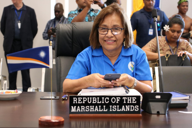 Hilda Heine présidente de la République des îles Marshall