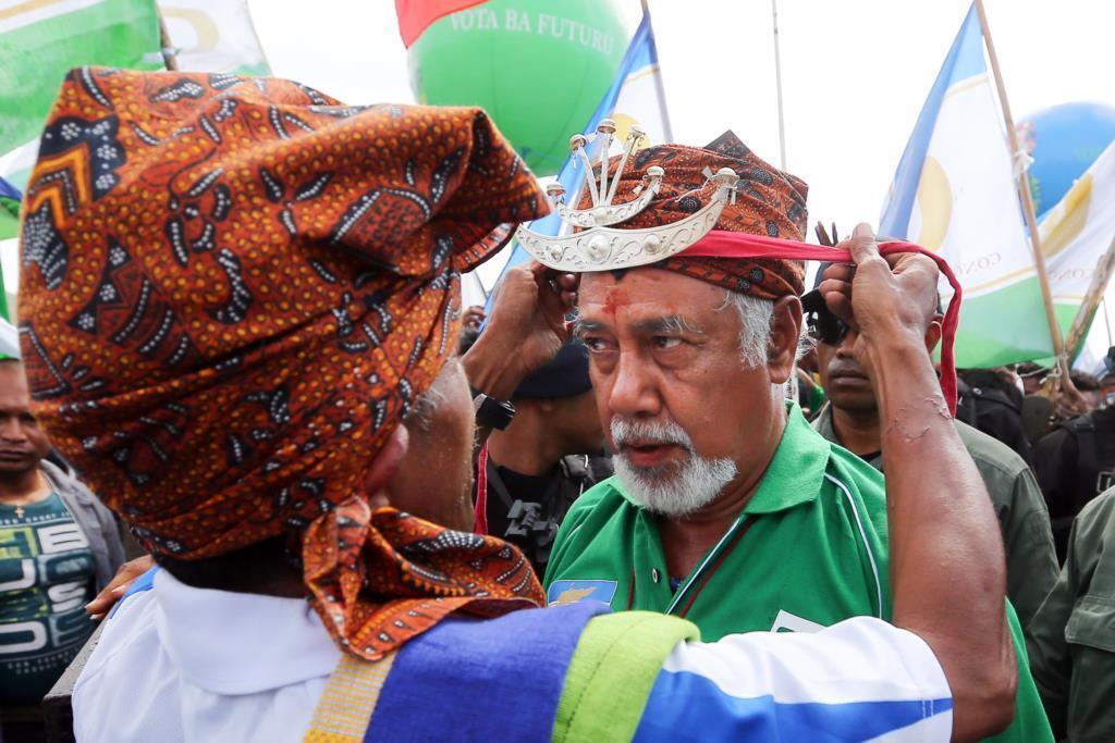 Antigo primeiro-ministro timorense e líder histórico da resistência, Xanana Gusmão.