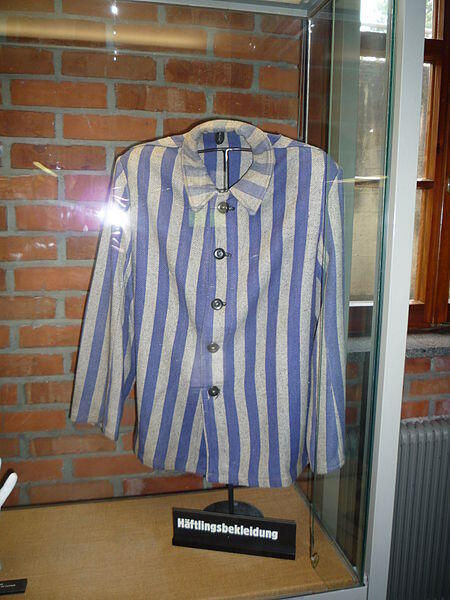 The uniform of an inmate of Matthausen concentration camp