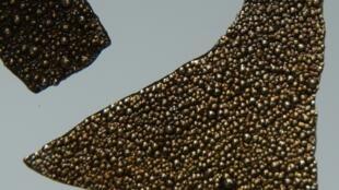 Des morceaux de manganèse