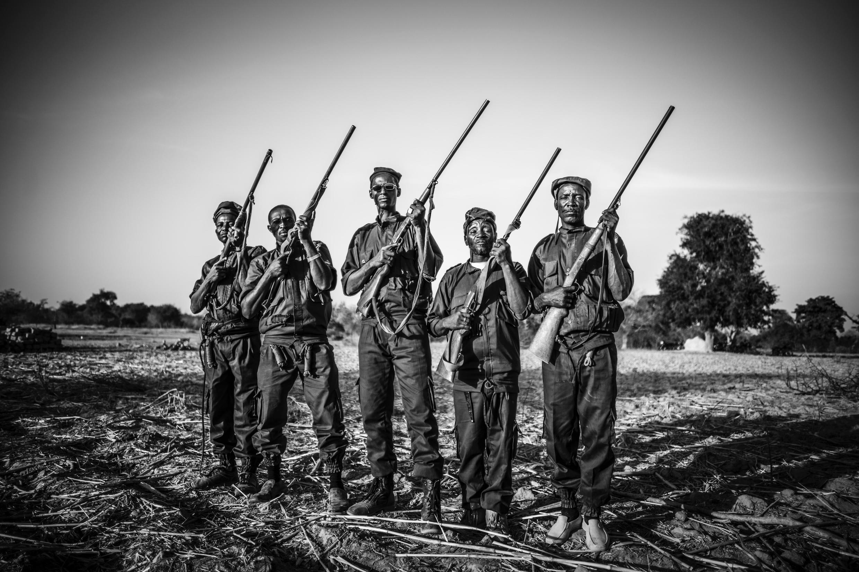 De nouveaux membres ont rejoint le groupe de Koglweogo de Potiamanga, octobre 2017