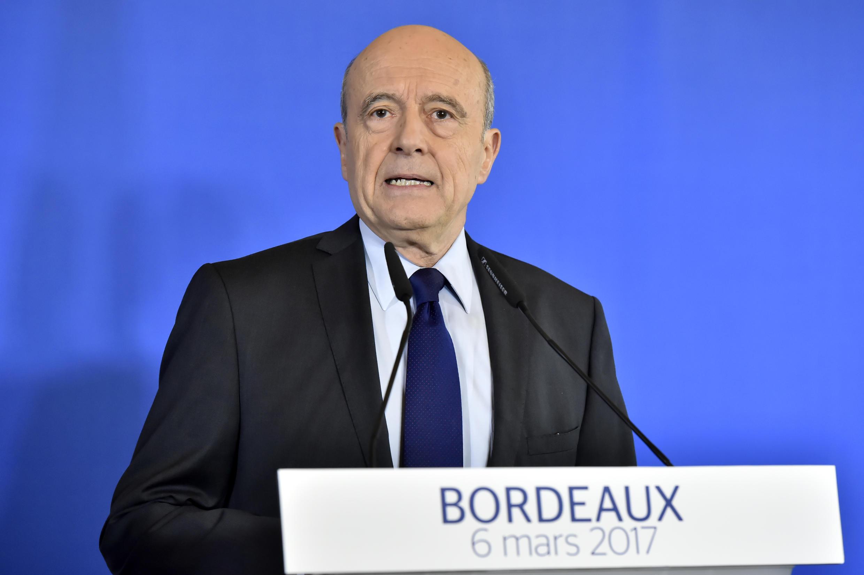 L'ancien Premier ministre Alain Juppé a déclaré qu'il ne serait «pas candidat» à l'élection présidentielle française lors d'une conférence de presse ce 6 mars 2017.