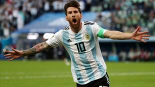 Messi voltou a brilhar no jogo contra a Nigéria.