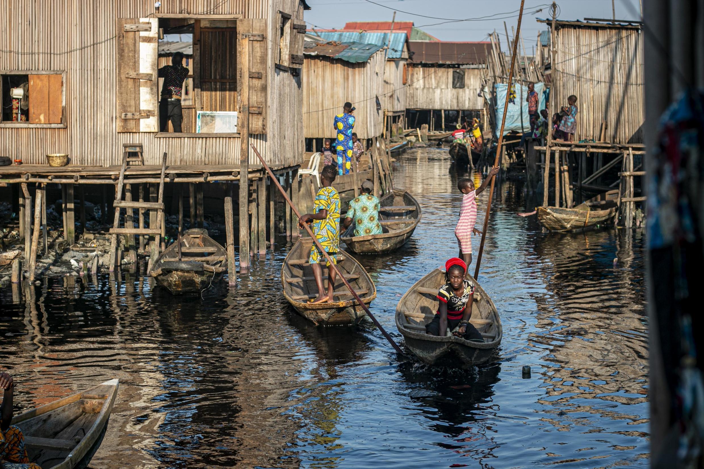 Le quartier de Makoko, à Lagos.