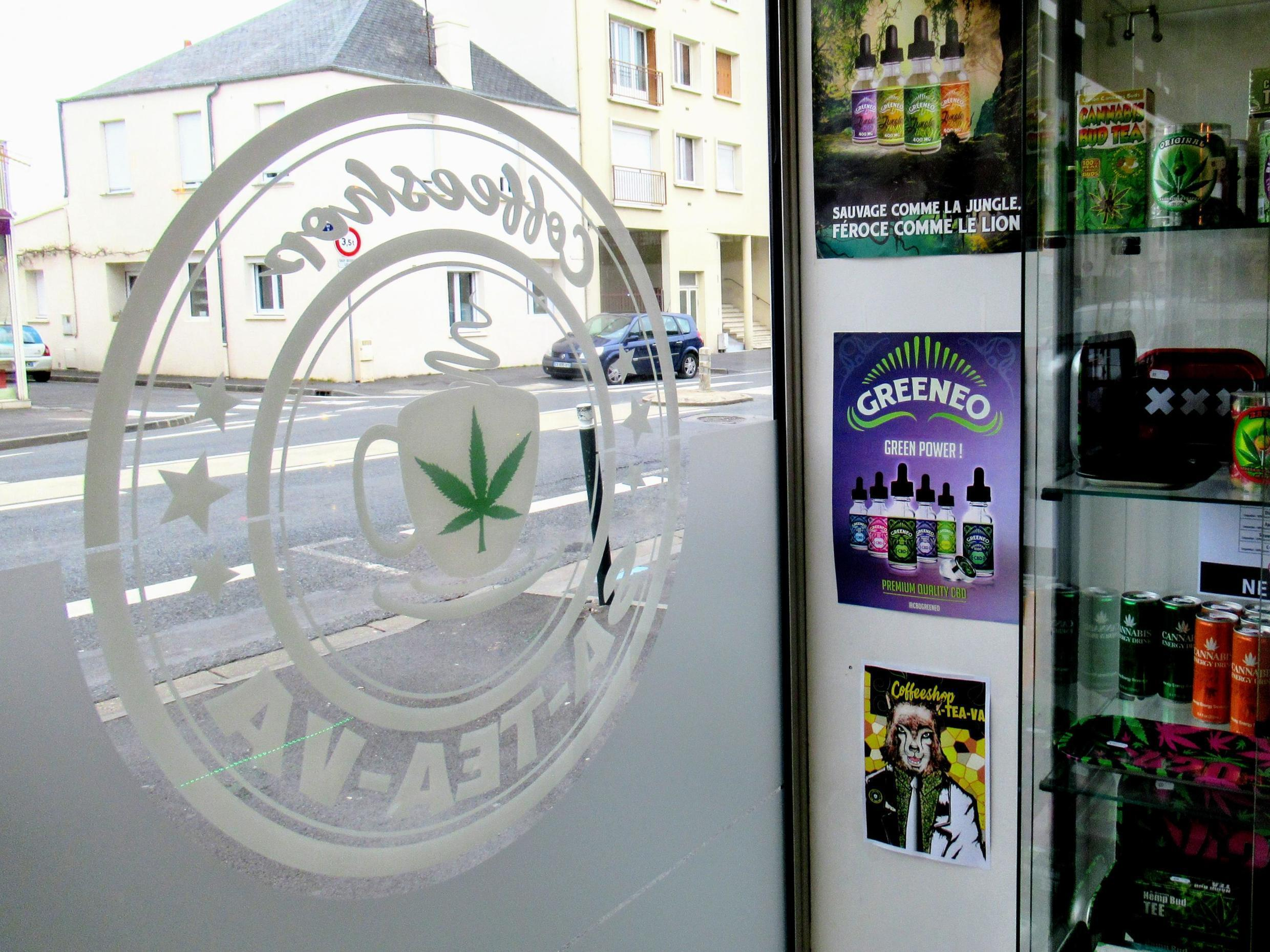 The logo of the shop includes a leaf, that is not technically a cannabis leaf