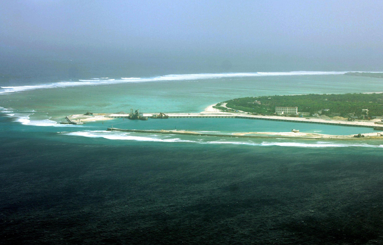 Thành phố Tam Sa (Sansha), trong vùng quần đảo Hoàng Sa, nơi đang có tranh chấp giữa Trung Quốc và Việt Nam, ở Biển Đông (Ảnh chụp ngày 27/01/2012)