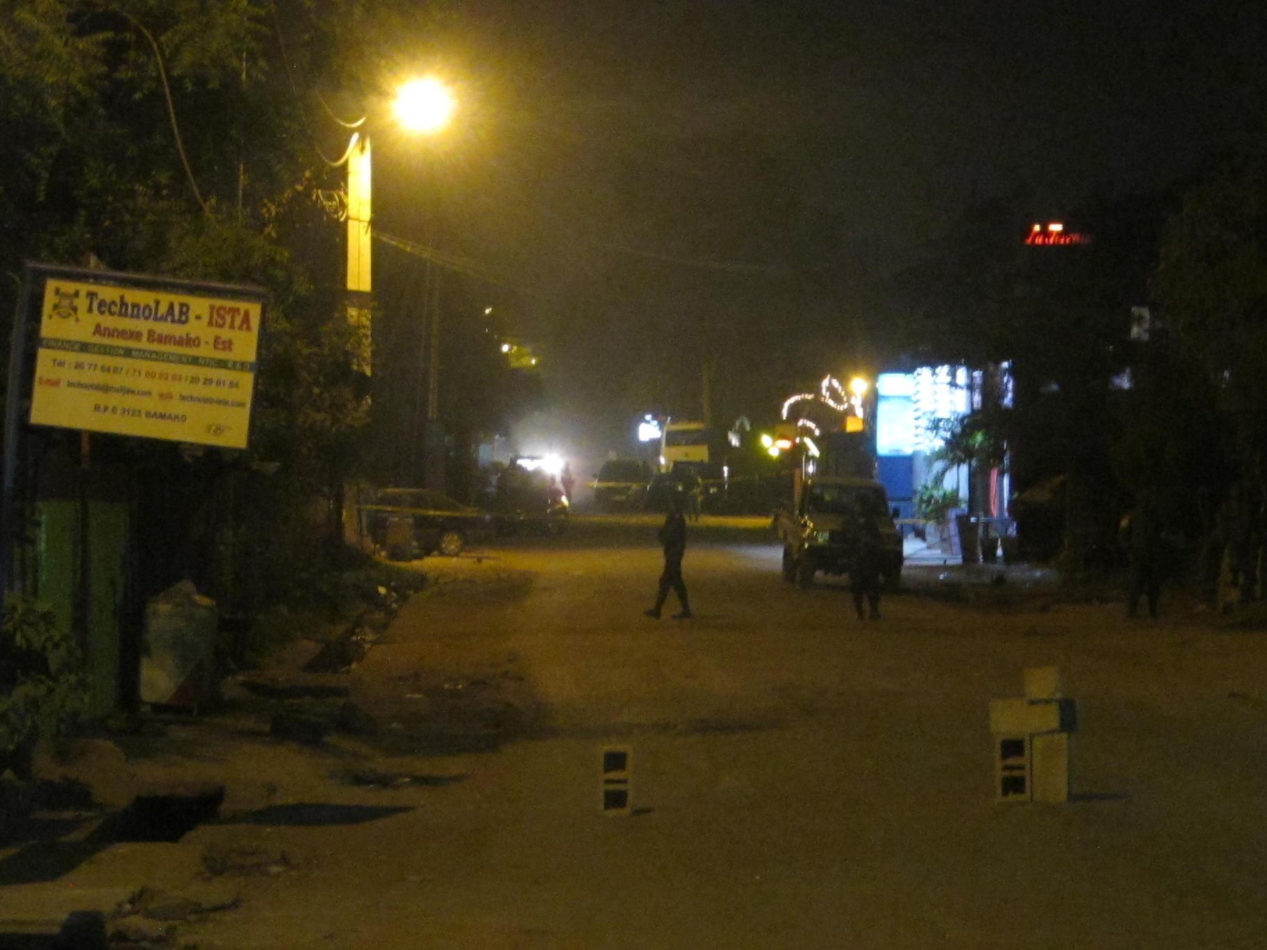 Rue «Princesse» à Bamako, où a eu lieu l'attaque du vendredi 6 mars 2015.