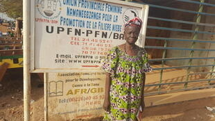 Ouédraogo Haoua, présidente de l'Union provinciale Namanegbzanga pour la promotion de la filière niébé du Bam (UPFN-PFN).