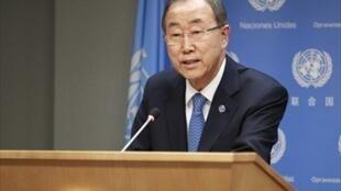 O secretário-geral da ONU, Ban Ki-moon, na sede das Nações Unidas, nesta quarta-feira (9).
