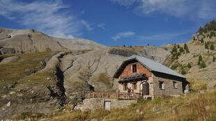 Refuge de l'Estrop à 2050 mètres d'altitude. Alpes-de-haute-Provence.