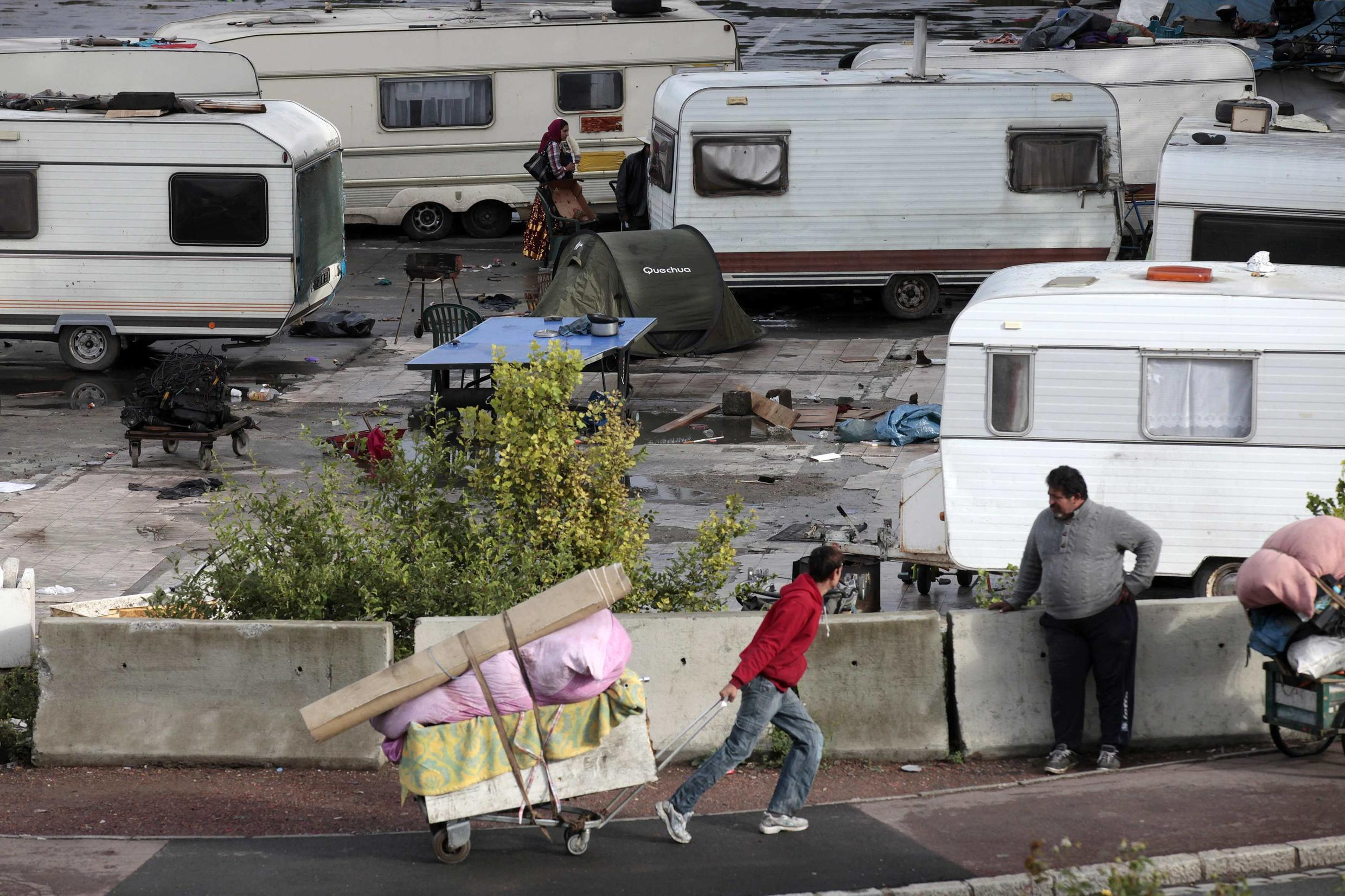 A Roma camp in Lille