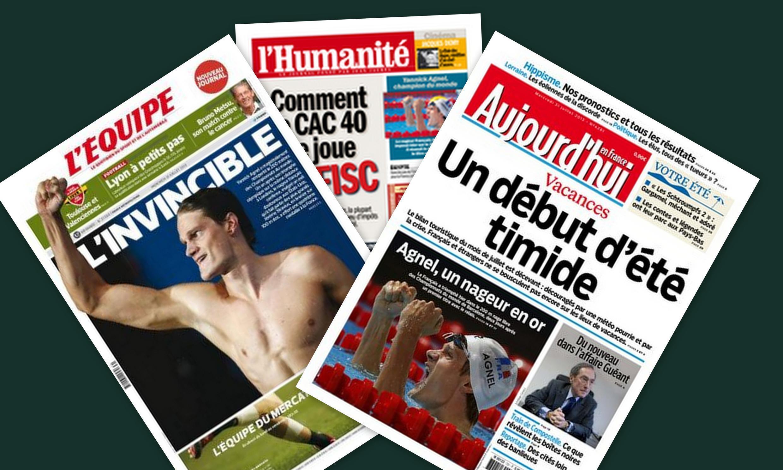 Capa dos jornais franceses Aujourd'hui en France, L'Equipe, e L'Humanité desta quarta-feira, 31 de julho 2013