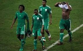 Wachezaji wa Nigeria wakiondoka uwanjani