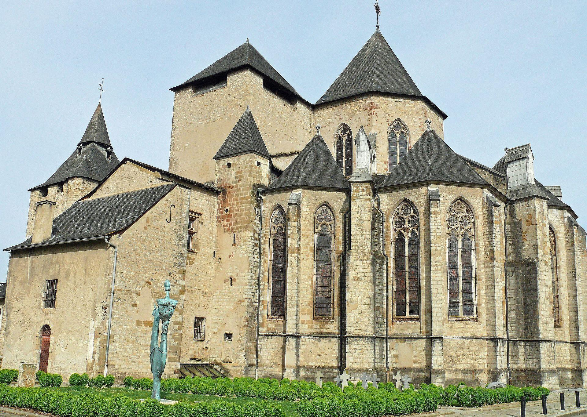 The Cathedral in Oloron-Sainte-Marie, pillaged by robbers on 3 November 2019