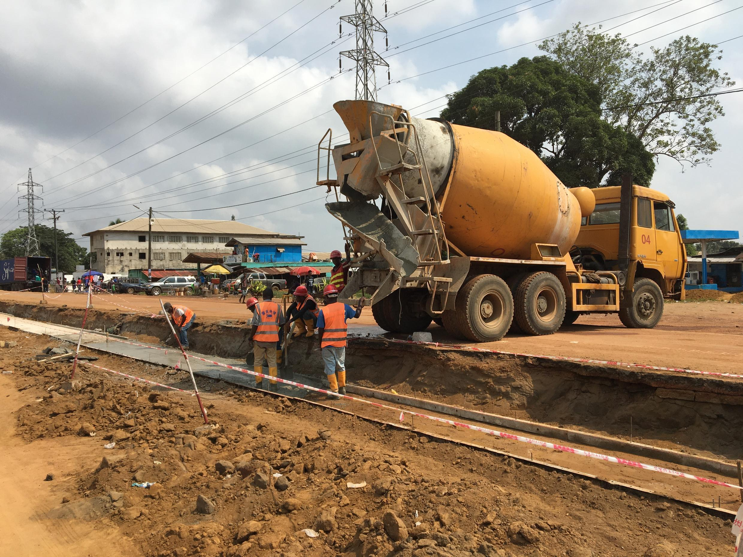 A new road is currently being constructed, connecting the communities of Redlight, Paynesville to ELWA Junction, on the outskirts of Monrovia, with CICO, a Chinese construction and engineering firm, in charge of works.