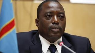 DRC President Joseph Kabila at the African Union headquarters in Addis Ababa, 24 Feburary, 2013