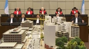 Phòng xét xử của Tòa án đặc biệt về Liban tại La Haye, Hà Lan, 16/01/2014