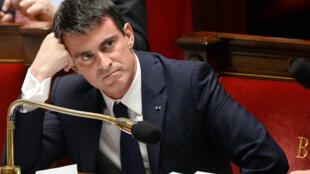 Le Premier ministre français Manuel Valls le 16 décembre à l'Assemblée nationale.