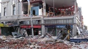 Prédios destruídos pelo terremoto em Christchurch, na Nova Zelândia