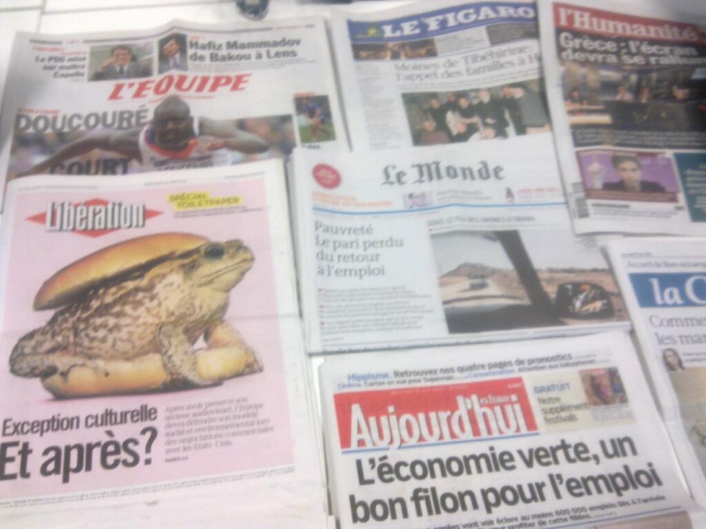 Diários franceses  19/06/2013