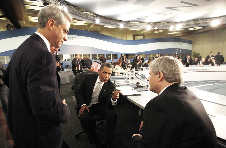 Tổng thống Obama và thủ tướng Canada Harper tại hội nghị G20 26/06/2010