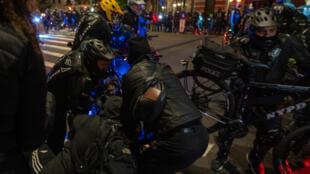 Protestos em Nova Iorque.