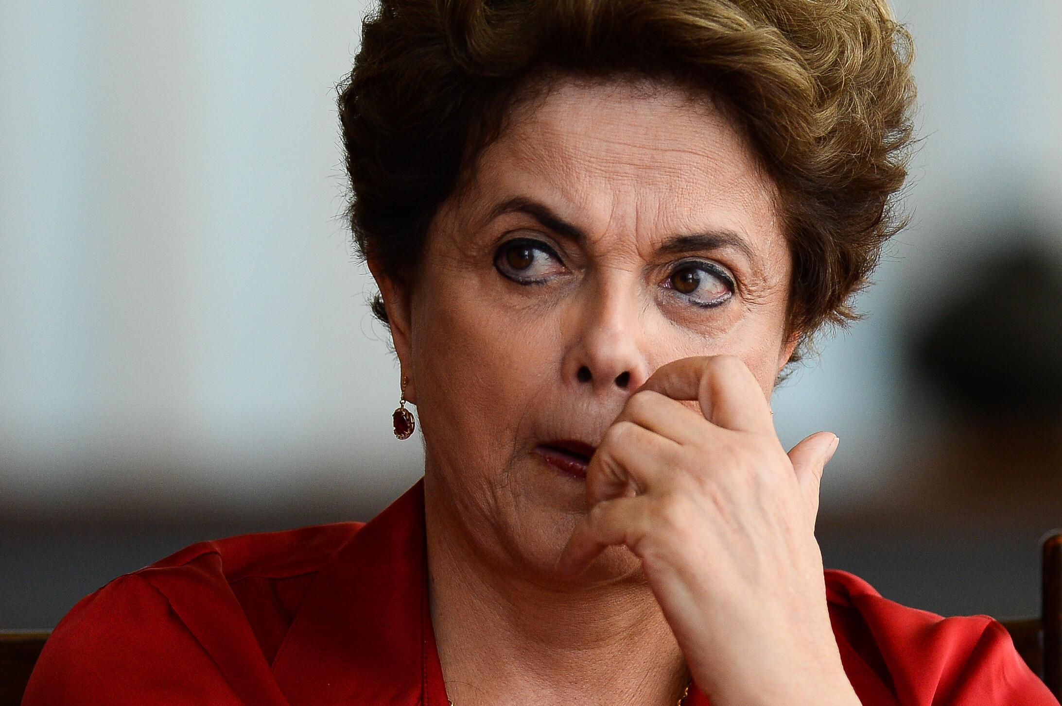 Rais aliyesimamishwa Dilma Rousseff katika katika Ikulu ya Aurore, Agosti 18, 2016, katika mji wa Brasilia.