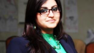 گلالی اسماعیل، یک تن از اعضای گروه پاکستانی دختران هوشیار.