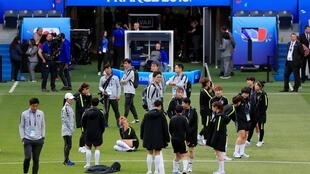 Футболистки из Южной Кореи готовятся ко встрече с французской сборной, 7 июня 2019