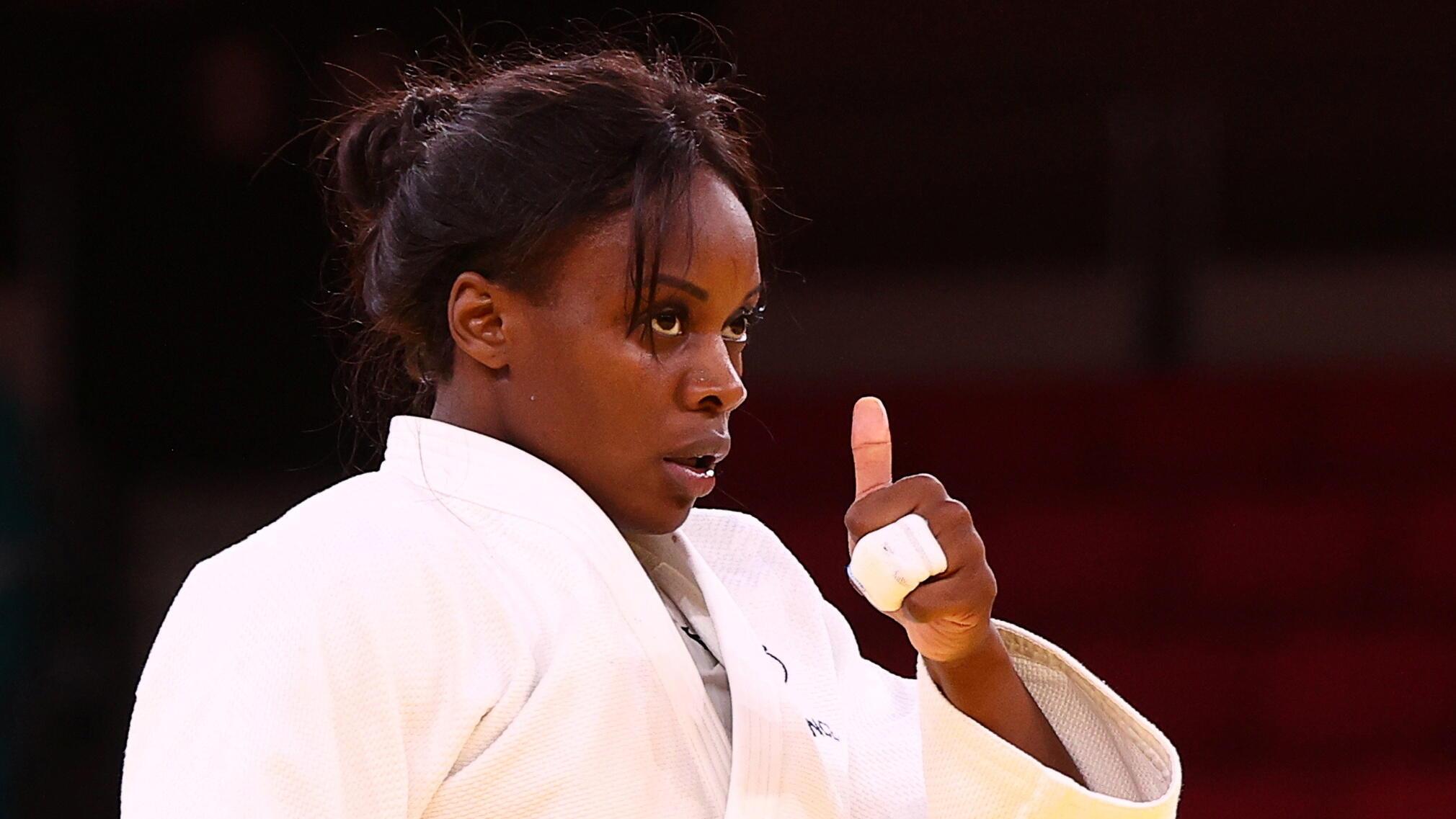 La judoka française Madeleine Malonga aux Jeux olympiques de Tokyo.