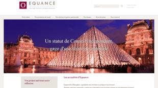 page d'accueil du site www.equance.com