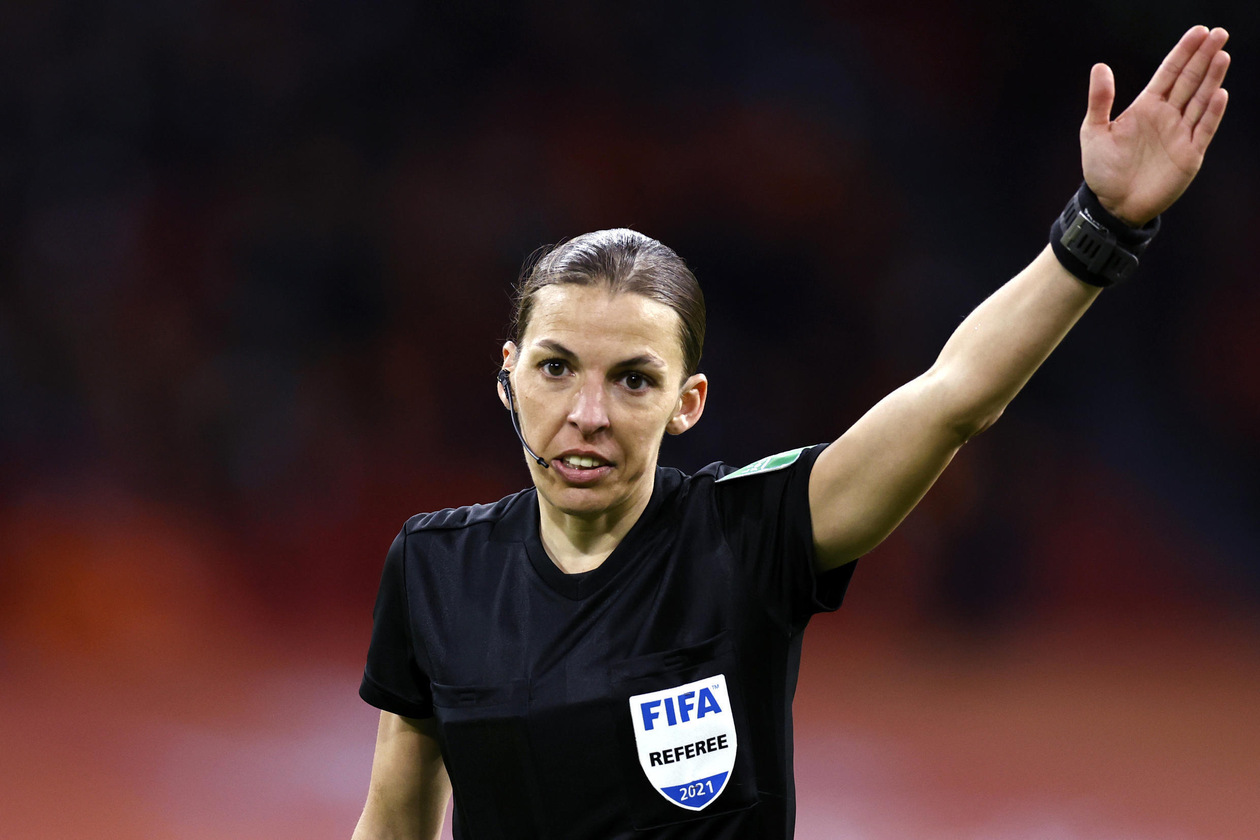 2021-03-27 sport football soccer france woman referee Stéphanie Frappart netherlands latvia amsterdam world cup qualifier