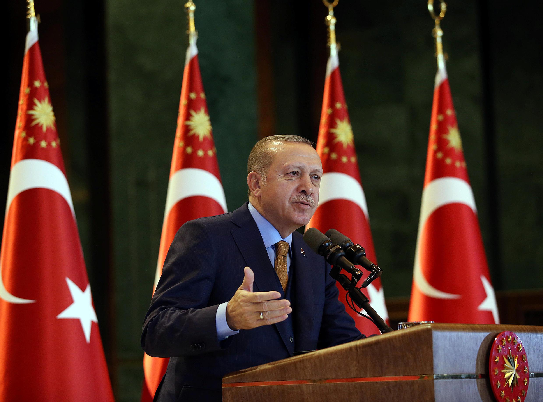 Turkish President Tayyip Erdogan in Ankara on 10 January, 2018