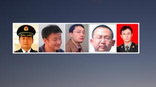 Ảnh 5 sĩ quan quân đội Trung Quốc đã bị tư pháp Mỹ khởi tố trong tháng 5/2014, bị cáo buộc đã đánh cắp  bí mật thương mại của nhiều doanh nghiệp Mỹ.