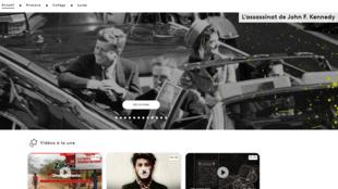 Capture d'écran de la plateforme éducative de l'audiovisuel public, Lumni.