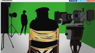 Этим рисунком сопровождается расследование о сексуальных домогательствах во французском кино