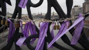 Акция в поддержку сестер Хачатурян и за принятие закона против домашнего насилия, Москва, 14 декабря 2019 г.